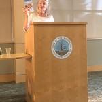 Author Elizabeth Berg addresses library